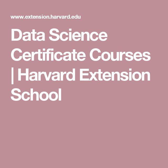 Data Science Certificate Courses   Harvard Extension School