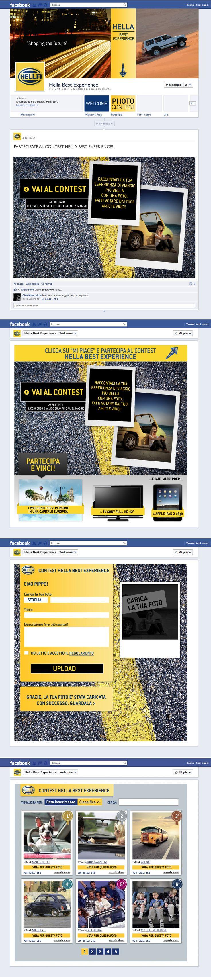 Cliente: Hella Progetto: Facebook app per concorso fotografico