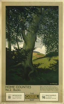 Home Counties; No.2 Bucks - Christopher Richard Wynne Nevinson (1924)