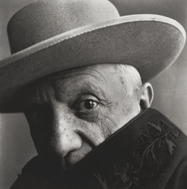 Pablo Picasso shot by Irving Penn