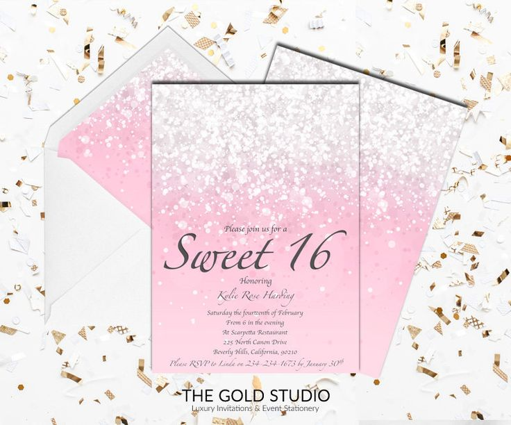 24 best sweet 16 invitations images on pinterest sweet 16 printable blush pink sweet 16 invitation sweet sixteen print at home glitter invite 16th birthday mac stopboris Images