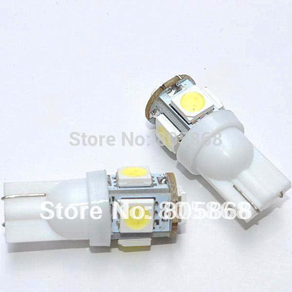 T10 5SMD LED T10 5SMD bulb 5SMD 5050 t10 5LED light white car side light car led lighting auto led light 100pcs/lot new