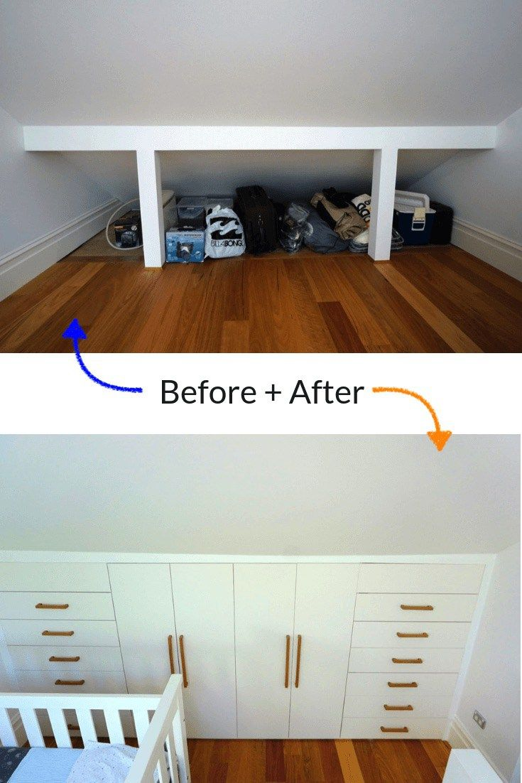 The best under-eaves wardrobe hack yet | Bedroom Design | Loft ...