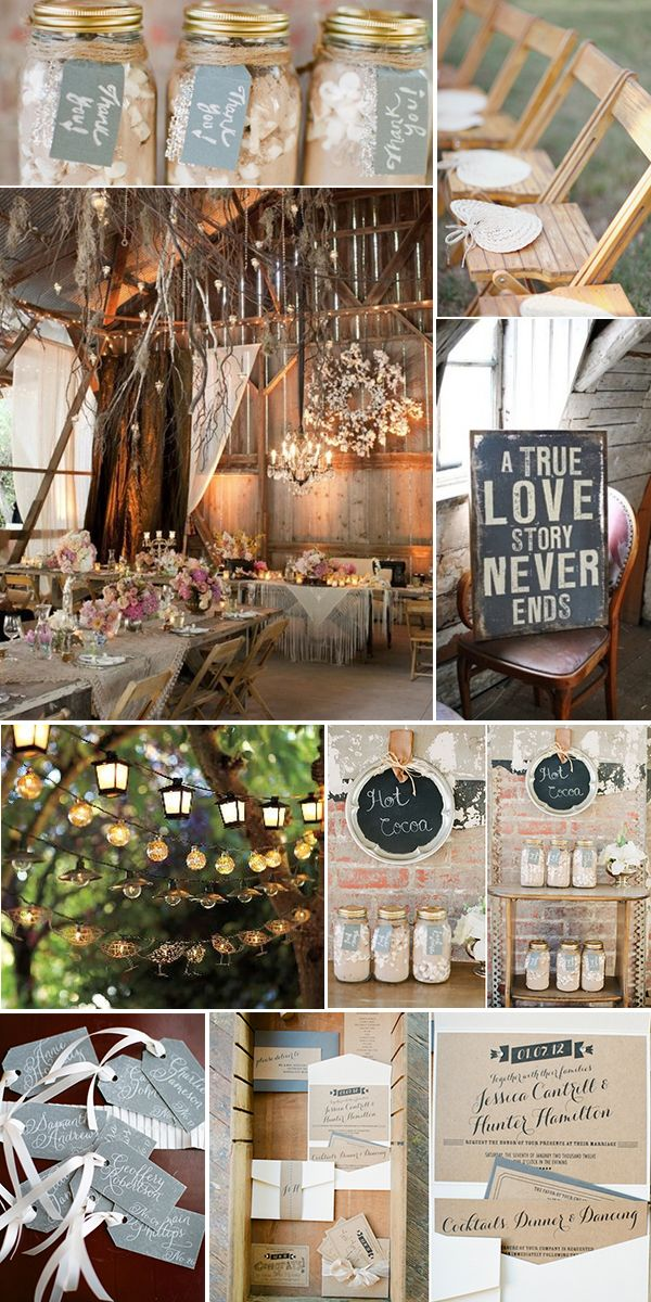 Rustic Gray, Pink  Natural Wood Reader Requested Wedding Inspiration