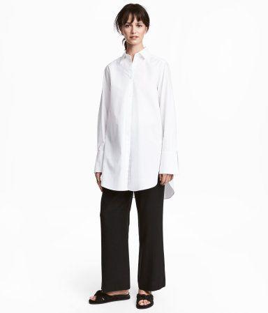 Wide-leg Lyocell Pants | Black | Women | H&M US