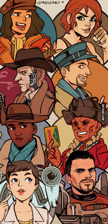 All fallout 4 companions in one picture