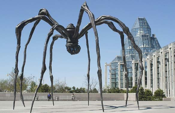 """Louise Bourgeois' """"Maman"""" at the National Gallery of Canada, Ottawa.  These spider sculptures are awesome."""