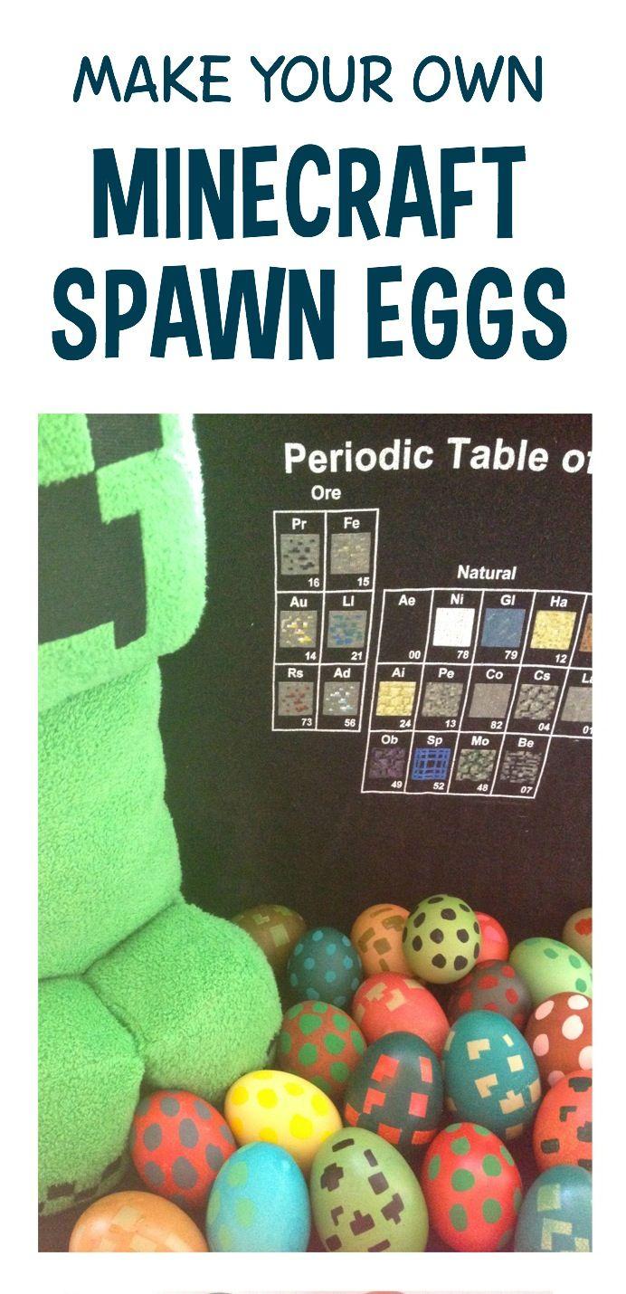 Dye your own Minecraft spawn eggs ~ MineMum.com