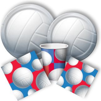 All Star Volleyball Party Packs, Volleyball Party Supplies