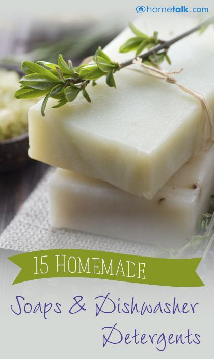 Make your own soaps and dishwasher detergents!