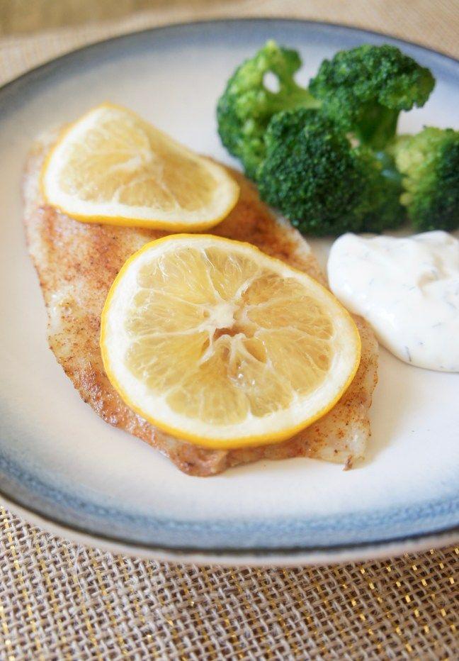 Cajun Lemon Tilapia with Dill Sauce | A Love Letter to Food | www.alovelettertofood.com