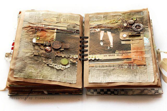 Journal 23 - Rome by night by finnabair / Anna Dabrowska - art journal inspiration