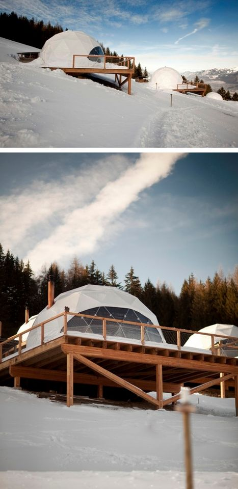 """#Whitepod #Resort located at 1400, in a private ski area in #Switzerland, at """"Dents-du-Midi"""". Whitepod was awarded with the World Prize for Sustainable Tourism in 2005 http://en.directrooms.com/hotels/country/2-6/"""