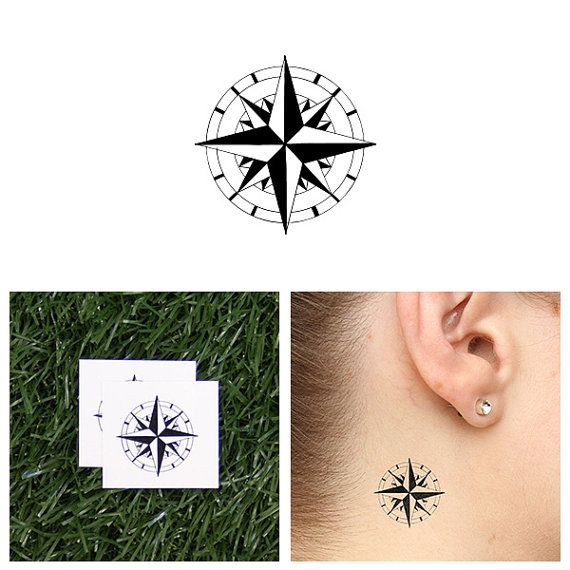 North Star Temporary Tattoo Set of 2 by Tattify on Etsy