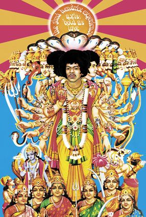 """A great poster of the amazing album cover art from Jimi Hendrix's debut LP - Axis: Bold As Love! Fully licensed. Ships fast. 24x36 inches. """"Experience"""" the rest of our great selection of Jimi Hendrix"""