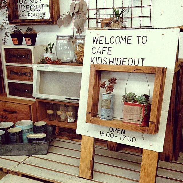 DIYと多肉植物とステンシルのインテリア実例