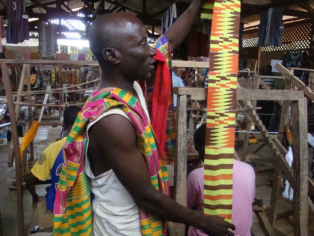 Kente village in Kumasi-Ghana, via Flickr
