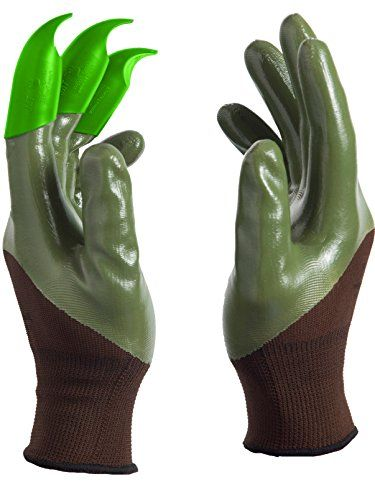 Bought these for a purpose other than gardening. My middle finger being the longest was always wearing out on the left hand. There are pros and cons. I'd rather see a design where the claw can be removed 'cuz it does restrict for other purposes wearing continuously. The gloves do fit well. The tip hasn't worn out as said saving $ overall.