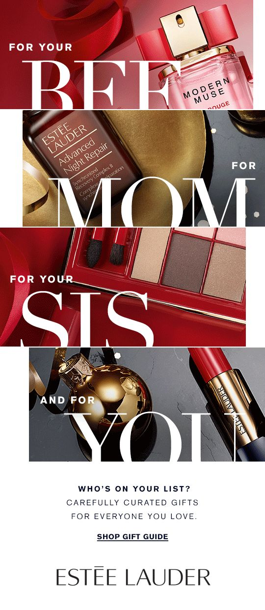 Mom Daughter Sis BFF For You WHO'S ON YOUR LIST? Carefully curated gifts for everyone you love. Shop Gift Guide »