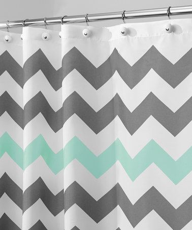 Another great find on #zulily! Gray & Aruba Chevron Shower Curtain #zulilyfinds