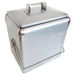 Coke Cooler Box Silver    An officially licensed Coca Cola Ice Cooler Box