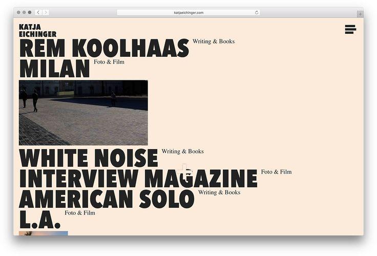 Webdesign and development for munich based writer, photographer and filmmaker Katja Eichinger.