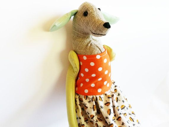 Labrador Dog  Heirloom Labrador Doll by rabbitanddog on Etsy