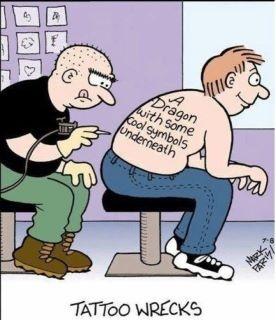 dragonTattoo Comics, Cake Wreck, Tattoo Artists, Body Art, Funny Stuff, Funny Tattoo, Humor, A Tattoo, Dragons Tattoo