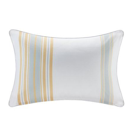 Home Essence Ventura Printed Stripe 3M Scotchgard Outdoor Pillow, Yellow