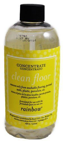 Rexair Rainbow Concentrate Clean Floor. Removes soils from washable flooring, painted walls, plastic, porcelain, etc. 160z liquid. 79-0144-02