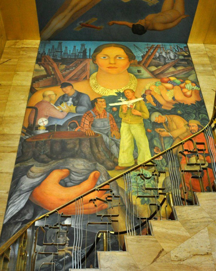 88 best images about colorful sf murals on pinterest for Diego rivera mural in san francisco