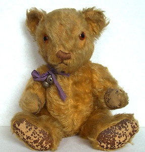 Antique/vintage/old teddy bear - Invicta Bear 13 inches from eBay sold