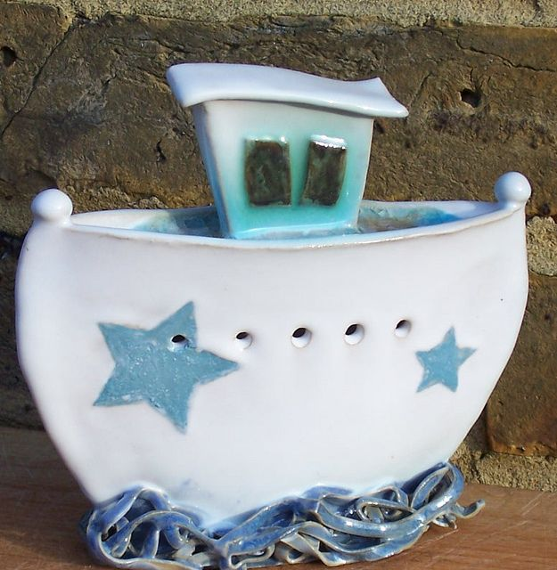 Helen Komatsu - Ceramic Boat Sculptures