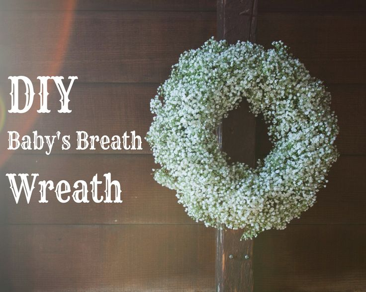 Step By Step DIY Baby's Breath Wreath | Rustic Wedding Chic
