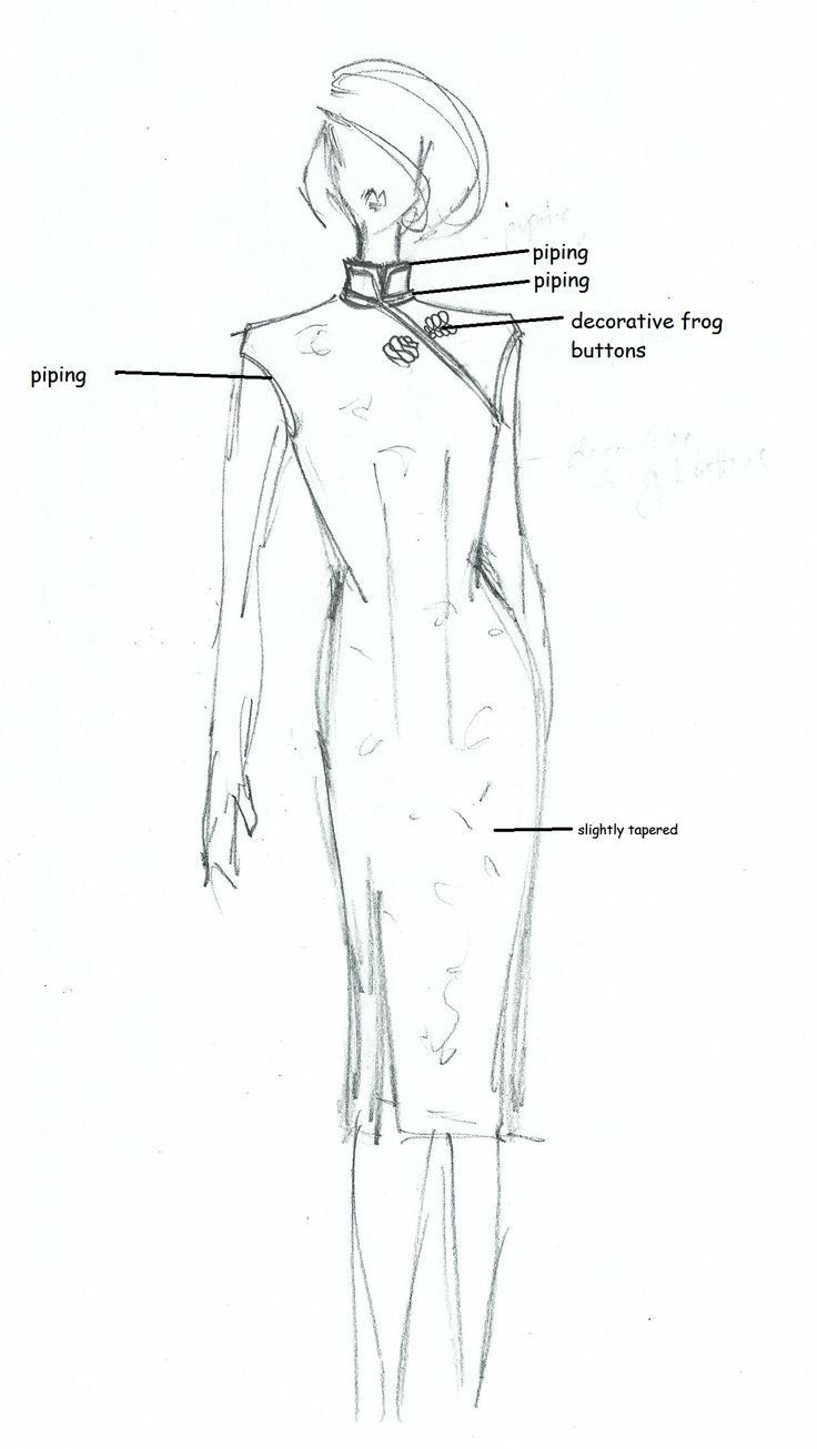Cheongsam working drawing (1 of 1)