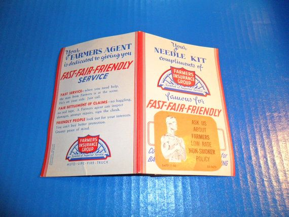 1966 Farmers Insurance Group Needle Kit for by Antiquesfromthepast