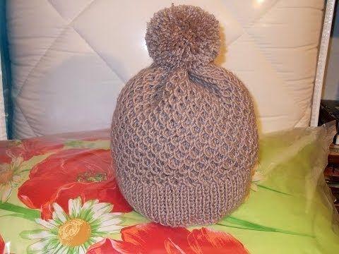как связать красивую шапку спицами - 316 роликов. Поиск@Mail.Ru | вязаные шапки и прочее | Постила
