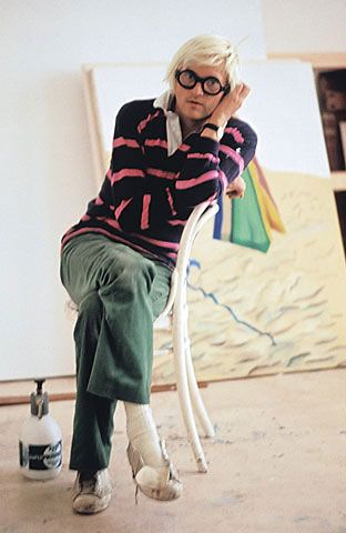 David Hockney.  Peintre Majeur.