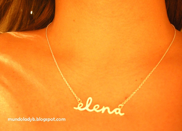 My personalised necklace