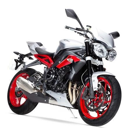 2015 Triumph Street Triple RX ABS | Street life doesn't get more stimulating than this. The Street Triple Rx combines aggressive style and devilish good looks to create an extreme, eye-catching machine, borrowing inspiration from its supersports sibling, the Daytona 675R.