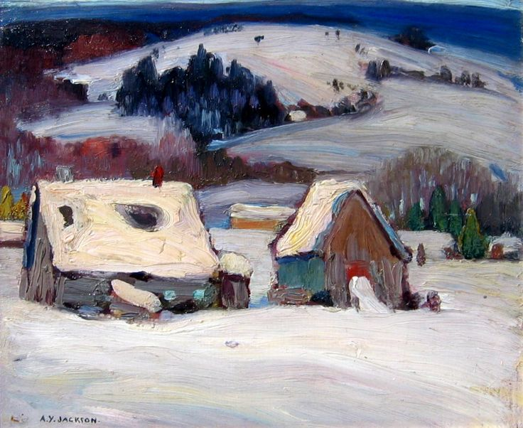 """Baie St. Paul,"" A.Y. Jackson, oil on panel, 9.75 x 12"", private collection."