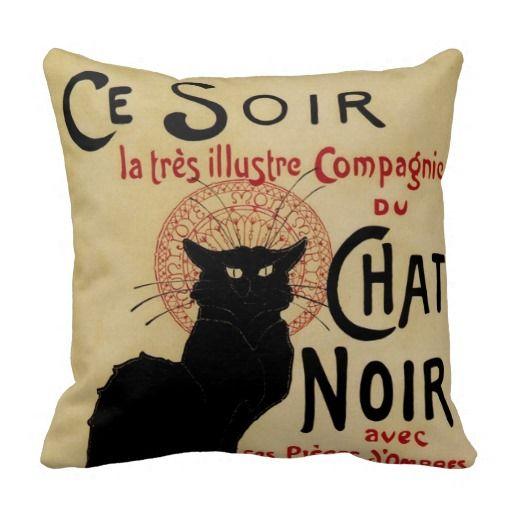 Arte Nouveau do vintage, Le Conversa Noir Travesseiro De Decoração