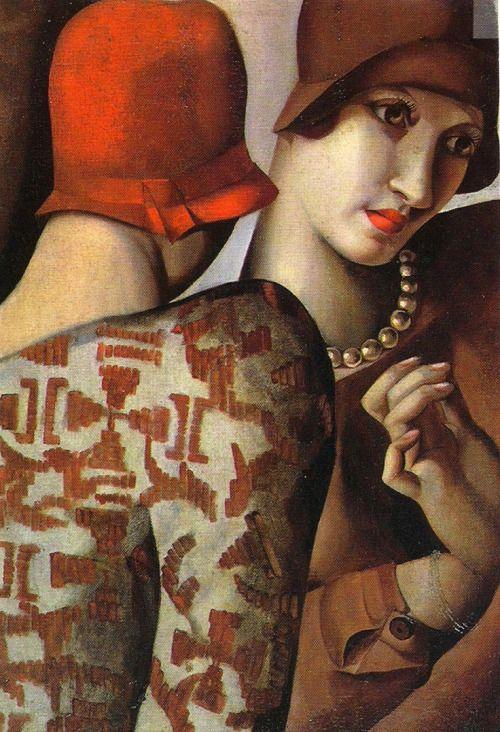 Les Confidences  - by Tamara de Lempicka, 1928