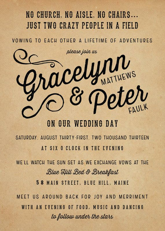 Rustic Wedding Invitation Suite The Gracelynn by starboardpress