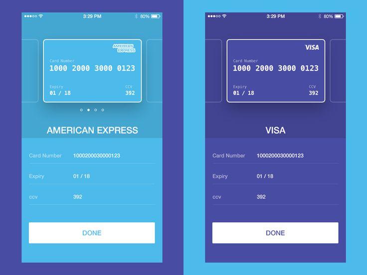 Credit Card Checkout UI Concept