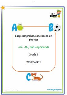 Easy Comprehension workbook for Grade 1 learners, focusing on phonics
