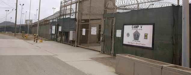 The entrance to Camp 5 and Camp 6 at the U.S. military's Guantanamo Bay detention center (Ben Fox/File/AP)
