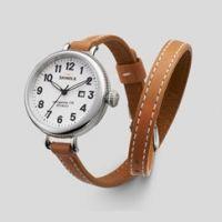 Shinola 'The Birdy' Bracelet Watch Grey Leather Strap, 34mm