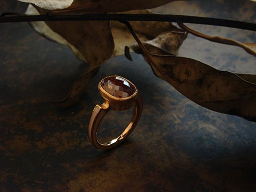 [Ancient Delusion : 017] Ring-K18PG/Diamond 3.59ct/Enamel
