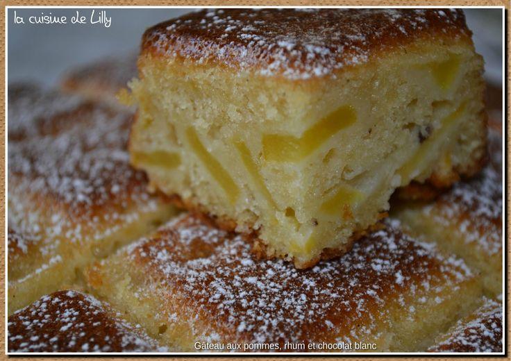 gâteau pommes rhum chocolat blanc